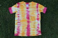 Dětské batikované tričko PRUHY, vel. S