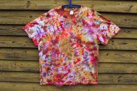 OHEŇ :) batikované tričko šířka 2x 62 cm, XXL
