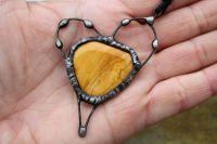 SRDCE JASPISOVÉ - cínovaný šperk