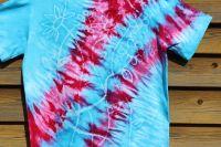 MAGICKÁ ZAHRADA :) tričko vosková batika, šířka 2x52 cm