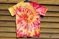 MOTÝL - tričko vosková batika, šířka 2x52 cm