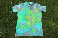 ZÁŘENÍ :) dámské batikované tričko s límečkem, šířka 2x 49 cm BarevnyKramek.cz