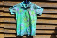 ZÁŘENÍ :) dámské batikované tričko s límečkem, šířka 2x 49 cm